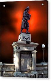 1898 Firemen Memorial St Joes Michigan Acrylic Print by Thomas Woolworth