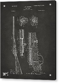 1899 Browning Bolt Gun Patent Gray Acrylic Print by Nikki Marie Smith