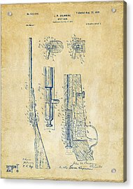 1899 Browning Bolt Gun Patent Vintage Acrylic Print by Nikki Marie Smith