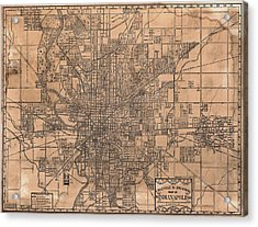1899 Indianapolis Map Acrylic Print by Dan Sproul