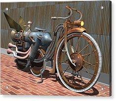 1899 Inline Steam Trike Acrylic Print