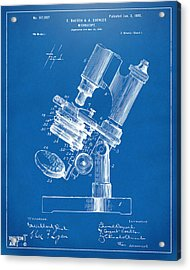 1899 Microscope Patent Blueprint Acrylic Print by Nikki Marie Smith