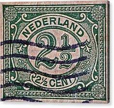 1899 Netherlands Stamp Acrylic Print