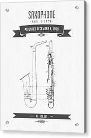 1899 Saxophone Patent Drawing Acrylic Print
