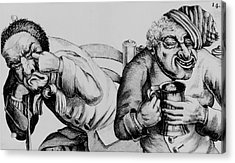 18th Century Engraving Of Alcoholics Acrylic Print