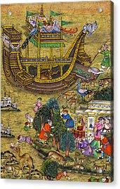 18th Century Ship Acrylic Print by Munir Alawi