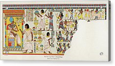 18th Dynasty  Syrian Chiefs Pay Tribute Acrylic Print by Mary Evans Picture Library