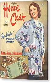 1950s Uk Home Chat Magazine Cover Acrylic Print by The Advertising Archives