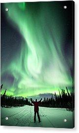 Aurora Borealis In Alaska Acrylic Print by Chris Madeley