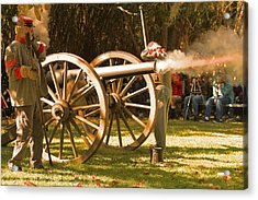 Cival War Reenactment At The Shadows On The Teche New Iberia Louisiana Acrylic Print