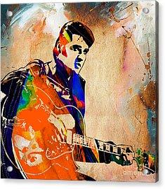 Elvis Presley Collection Acrylic Print by Marvin Blaine