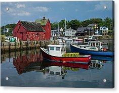 Usa, Massachusetts, Cape Ann, Rockport Acrylic Print by Walter Bibikow