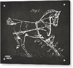 1900 Horse Hobble Patent Artwork - Gray Acrylic Print by Nikki Marie Smith