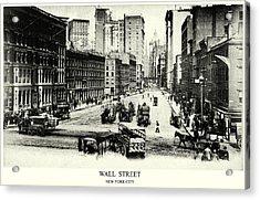 1900 Wall Street New York City Acrylic Print