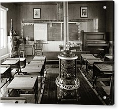 1900s Old Time Pioneer Classroom Acrylic Print