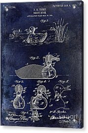 1902 Duck Decoy Patent Drawing Acrylic Print