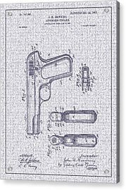 1903 Browning Automatic Pistol Patent Acrylic Print by Barry Jones