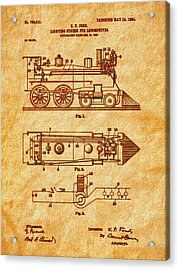 1904 Locomotive Patent Art-2 Acrylic Print