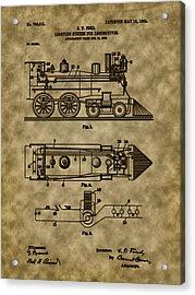 1904 Locomotive Patent Art Acrylic Print by Barry Jones