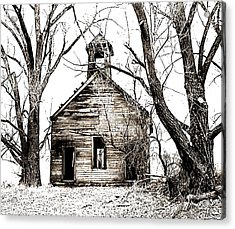 Acrylic Print featuring the photograph 1904 School House Memory by Sonya Lang