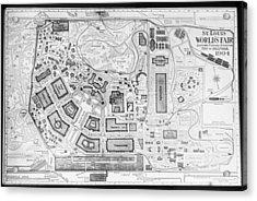 1904 Worlds Fair Fair Grounds Map Acrylic Print