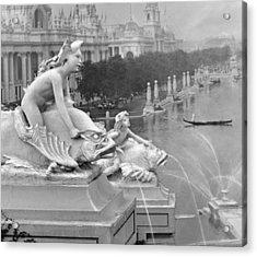 1904 World's Fair Fisheries Sculptures Vintage Photograph Acrylic Print