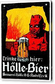 1905 German Beer Poster Acrylic Print