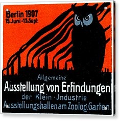 1907 Berlin Exposition Poster Acrylic Print