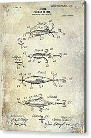 1907 Fishing Lure Patent Acrylic Print by Jon Neidert