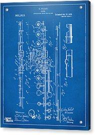 1908 Flute Patent - Blueprint Acrylic Print