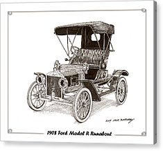 1908 Ford Model R Runabout Acrylic Print