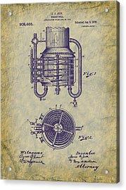 1909 Jett Whiskey Still Patent Acrylic Print