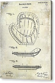 1910 Baseball Patent Drawing Acrylic Print by Jon Neidert