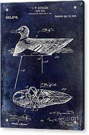 1910 Duck Decoy Patent Drawing Acrylic Print