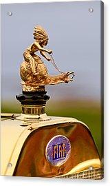 1911 Fiat Tipo 6 Holbrook 4 Passenger Demi-tonneau Hood Ornament Acrylic Print by Jill Reger