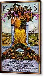 1911 Kansas Poster Acrylic Print