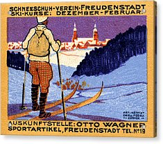 1911 Swiss Ski School Poster Acrylic Print by Historic Image