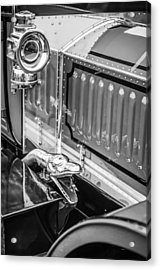 1912 Rolls-royce Silver Ghost Rothchild Et Fils Style Limousine Snake Horn -0711bw Acrylic Print by Jill Reger
