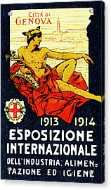 1913 Genoa Italy Industrial Exposition Acrylic Print