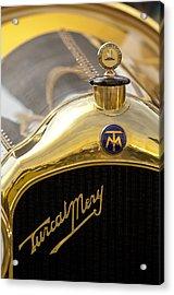 1913 Turcat-mery Mj Boulogne Torpedo Hood Ornament And Emblem Acrylic Print by Jill Reger