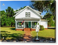 1914 Central Florida Home Acrylic Print by Frank J Benz