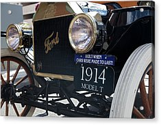 1914 Ford Model T Acrylic Print by Jim West