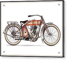 1914 Harley Davidson 35ci Model 10b Acrylic Print by Maciek Froncisz