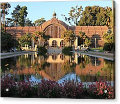 1914 Redwood Lathe Botanical Building Acrylic Print by Frank Wickham