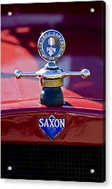 1915 Saxon Roadster Hood Ornament Acrylic Print by Jill Reger