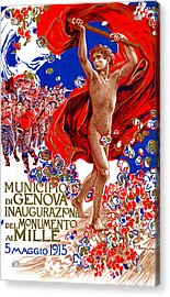 1915 Unified Italy Poster Acrylic Print by Historic Image