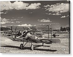 1916 Sopwith Pup Airplane On Airfield Acrylic Print