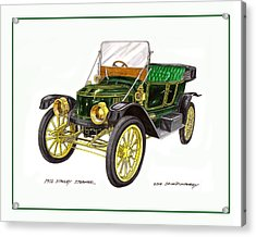 1917 Stanley Steamer Acrylic Print