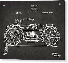 1919 Motorcycle Patent Artwork - Gray Acrylic Print