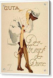 1920 - Guta Stockings Advertisement - Ludwig Hohlwein - Color Acrylic Print